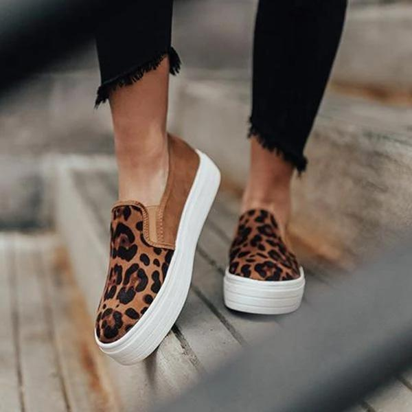 Women Fashion Printed Flat Sneakers