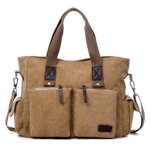Large Capacity Multifunctional Crossbody Bag Canvas Outdoor Handbag