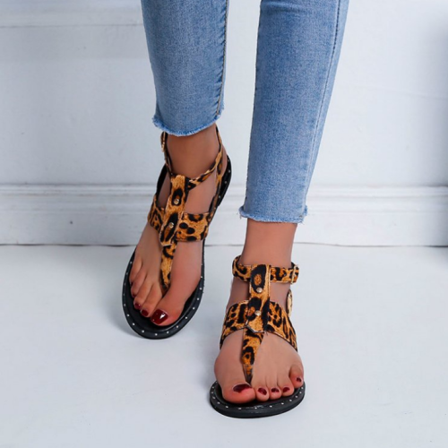 2020 New And Fashional Woman Casual Leopard Sandals