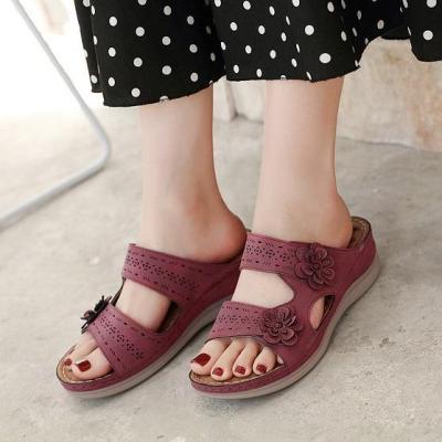 2020 New Woman Anti-slip Flower Sandals