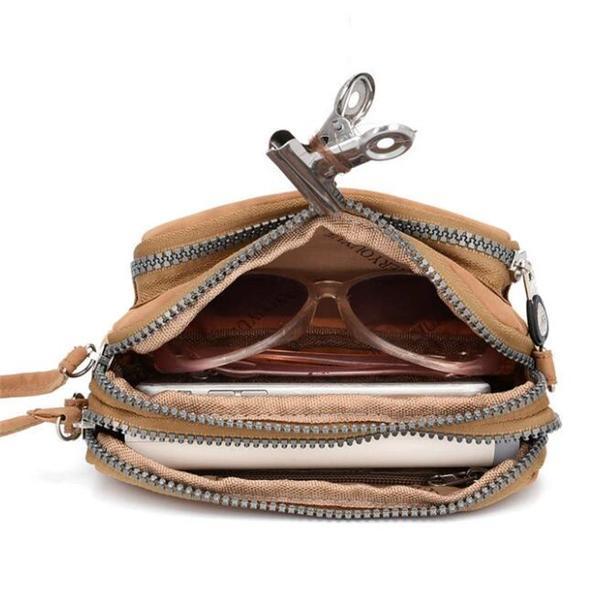 Daily Nylon Solid Waterproof Zipper Crossbody Bags