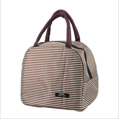 Portable Oxford Lunch Bag Lunch Tote Cooler Insulated Zipper Storage Containers