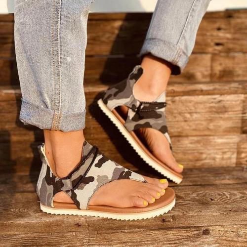 Women's Summer Beach Casual Camouflage Flip-flops Sandals
