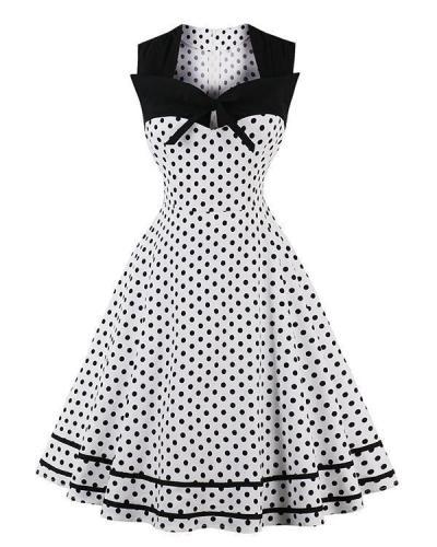 Polka Dot Vintage Sleeveless Vintage Mini Dress