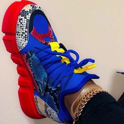 Multicolor Low Heel Date All Season Sneakers