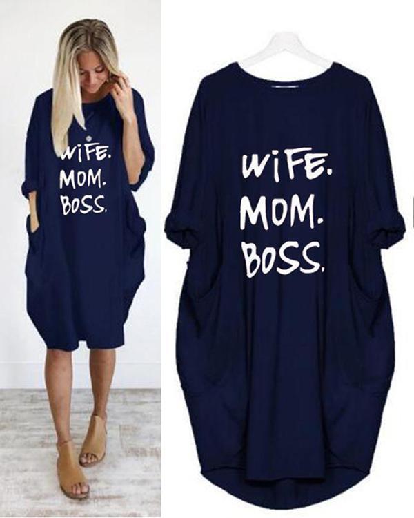 Summer Women Printed Casual Loose Dress