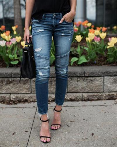 Women's Stretch Pencil Skinny Denim Bottoms Jeans Pants