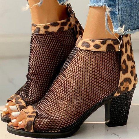 Women Elegant Hollow Out Peep Toe Sandals