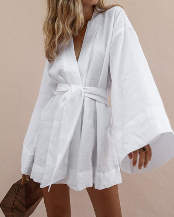 Sexy Lazy Kimono Sleeve Mini Dress
