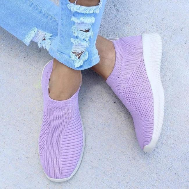ALL SEASON CASUAL BREATHABLE ELASTIC SLIP ON SNEAKERS
