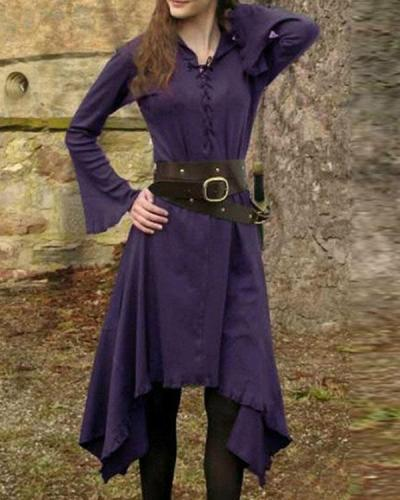 Vintage V Neck Lace Midi Dresses