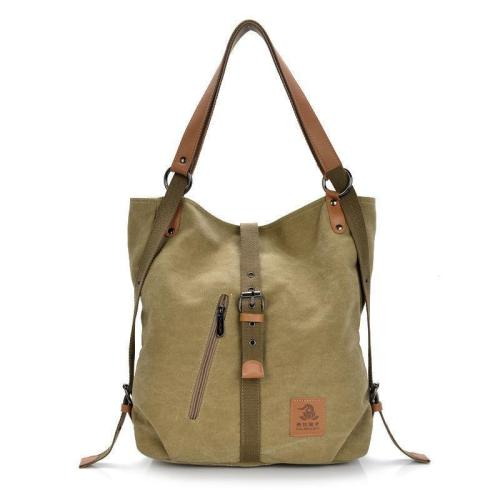 Canvas multifunctional Leisure Shoulder bag Backpack Messenger Bag