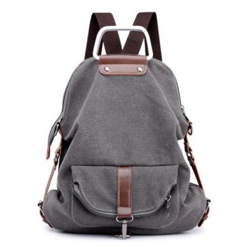 Casual Canvas Multipurpose Multi-pockets Backpack Crossbody Bag