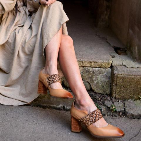 Summer Block Heel Sandals