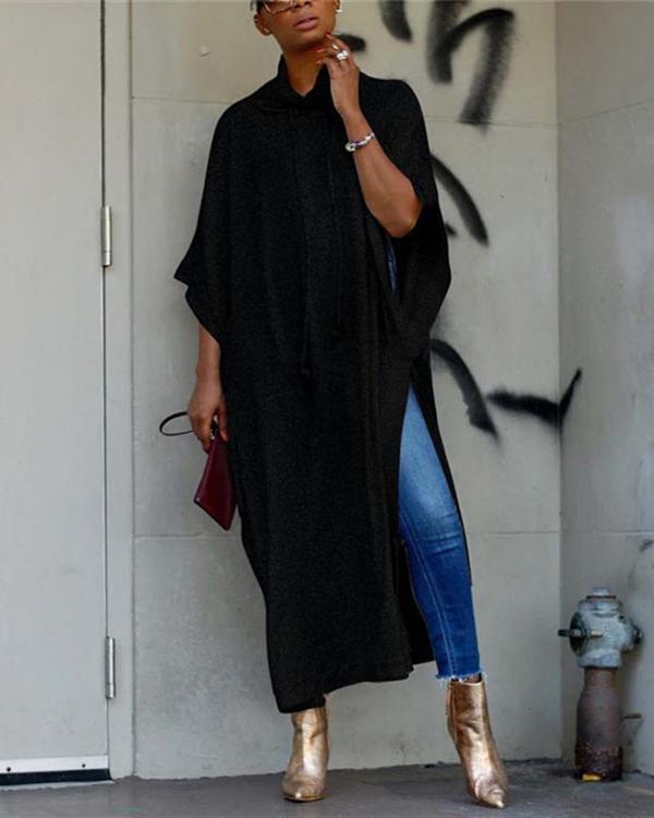 Bat Sleeve Solid Holiday Daily Fashion Maxi Dresses