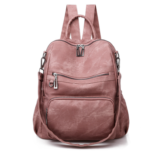 2020 New And Fashional Woman Pu School Bag Backpack Shoulder Bag