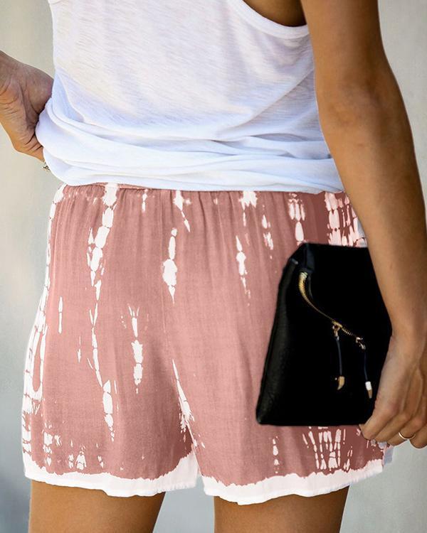 Holiday Cotton-Blend Tie Dye Pants