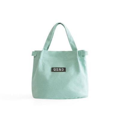 Lady Shoulder Bag Fashion Canvas Bucket Bento Bag Lunch Bag