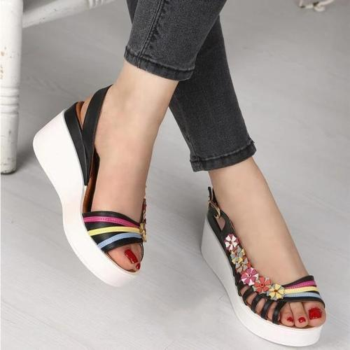 Women Hollow Thick low heel sandals