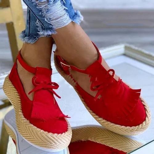 Women's Bowknot Tassel Round Toe Flat Heel Loafers