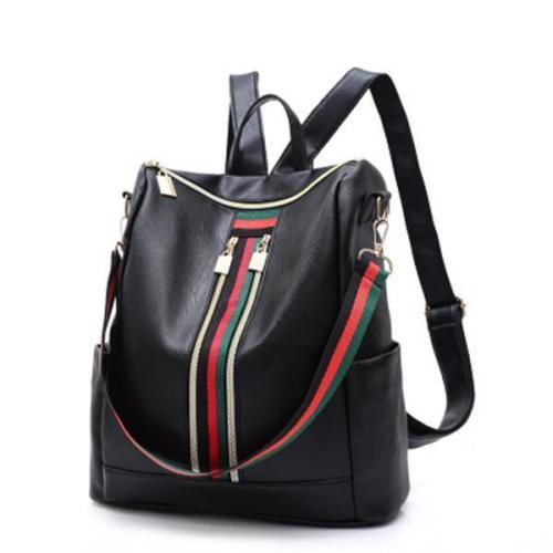 Women Large Capacity Backpack Color Block Casual Trendy Bag