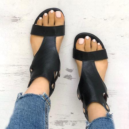 Gladiator Thong Casual Summer Shoes Women Flat PU Sandals