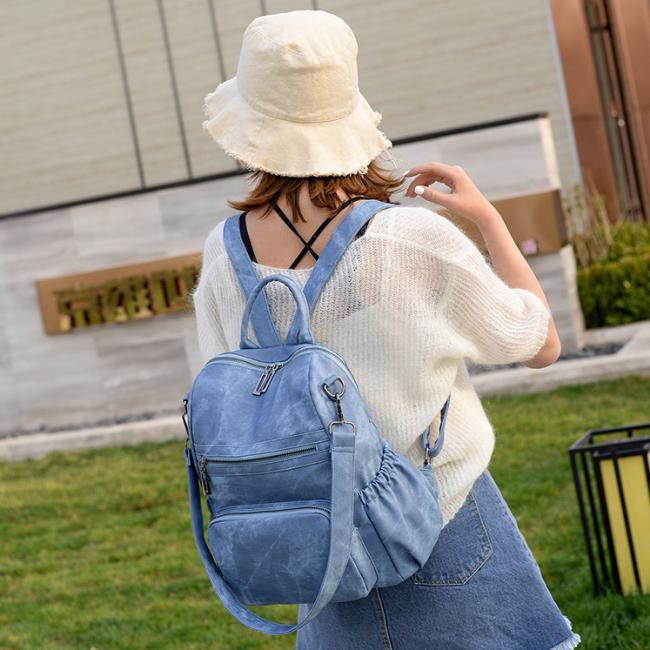 2020 New And Fashional Woman Pu School Bag Backpack Shoulder Bag
