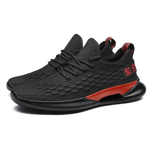 Men Knitted Fabric Brethable Sport Soft Casaul Running Sneakers