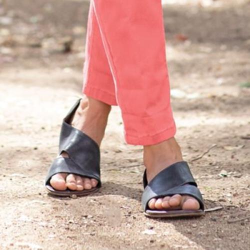 Fashion Casual Fish Toe Flat Sandals