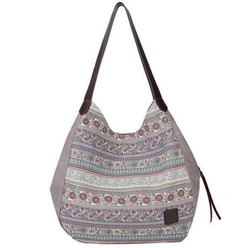 Women Canvas Bohemian Print Handbag Shoulder Bag