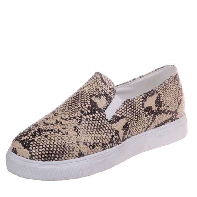 2020 New And Fashional Woman Colorful Snake Skin Sneakers