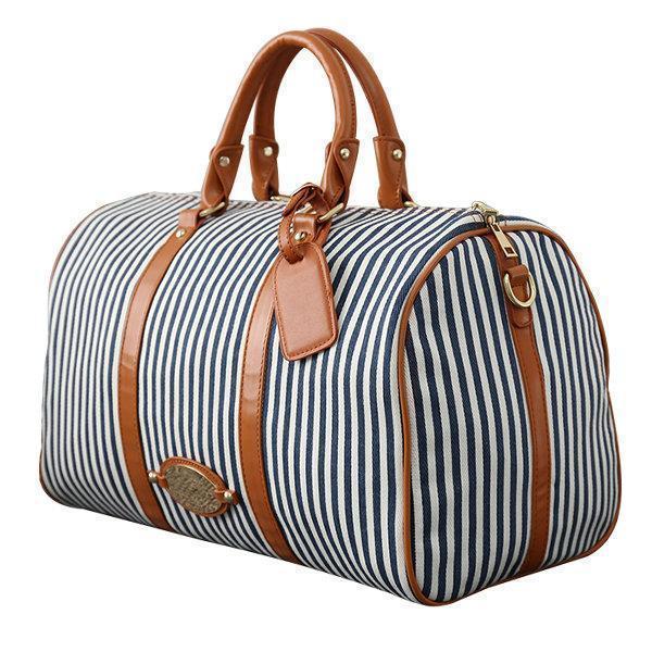 Canvas Stripe Large Capacity High-end Luggage Storage Bag Travel Bag