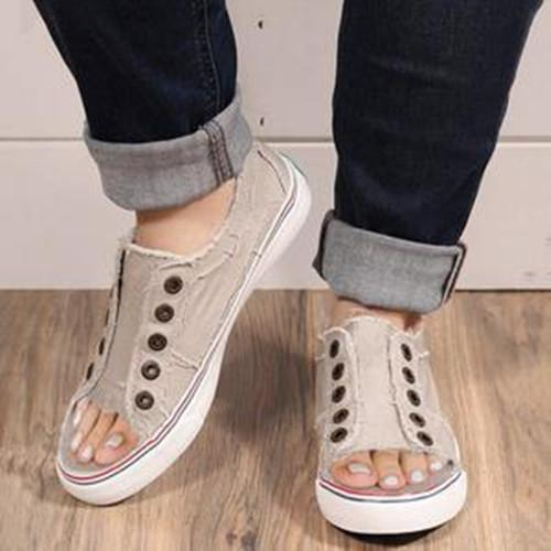 Sports Distressed Canvas Summer Rivet Sneakers