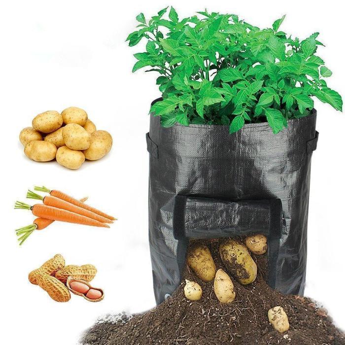 50L Large Capacity Potato Grow Planter PE Container Bag Pouch Tomato Vegatables Garden Outdoor