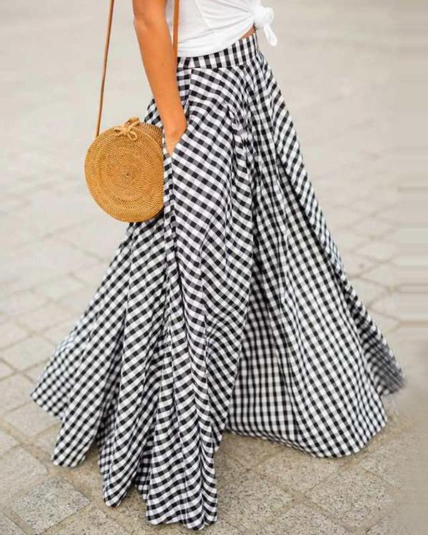Daily Plaid Vintage Skirt