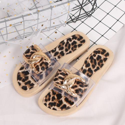 2020 Woman Casual Leopard Sandals