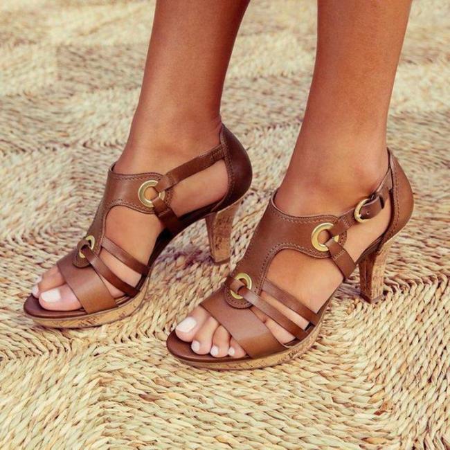 New Elegant Pumps Vintage Women Sandals