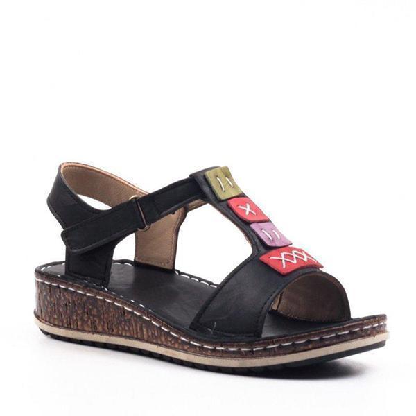 Women's Casual Daily Comfort Open Toe Wedge Sandals