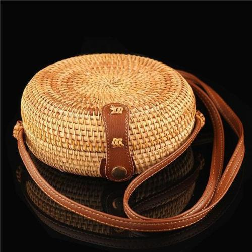 Handmade Women's Straw Shoulder Bag