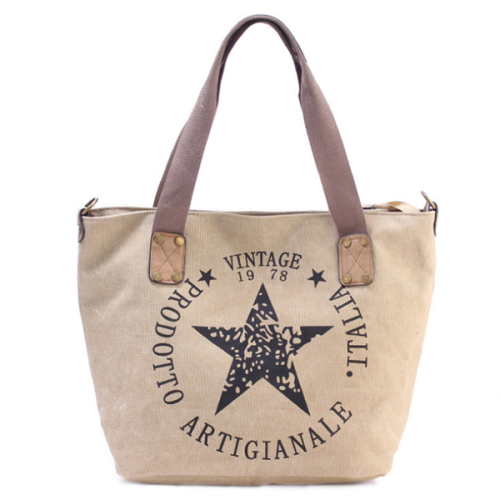 Pentagram Casual Canvas Large Capacity Shoulder Bag  Handbag