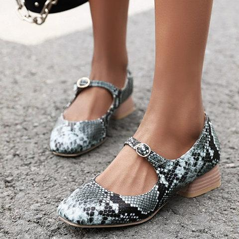 Summer Buckle snakeskin Sandals