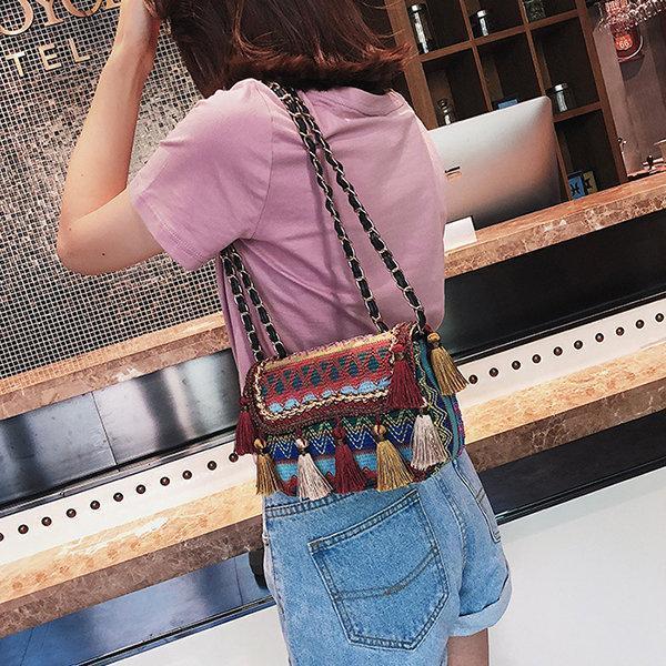 Tassel Bohemian Shoulder Bag Crossbody Bag