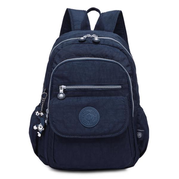 Waterproof Nylon Casual Multi Pockets  Travel Backpack School Bag