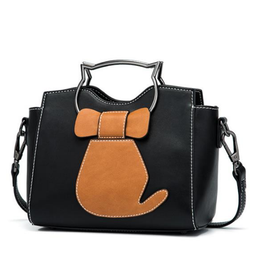 Women Cute Cat Pattern Handbags Large Capacity Leisure Shoulder Bags