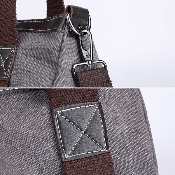 Women KVKY Canvas Bag Patchwork Hobos Casual Crossbody Bag