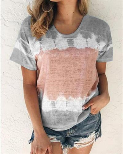 Floral Printed Plus Size Women Tops Casual T-Shirts