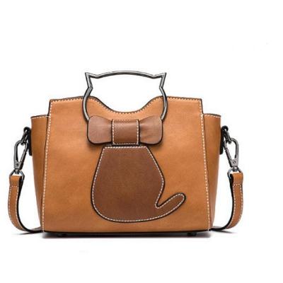 Women Cute Cat Pattern Handbags Large Capacity Leisure Shoulder Bags