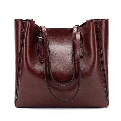 2019 New Stay Women Casual Shopping Multifunction Handbag Solid Shoulder Bag