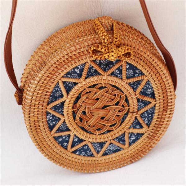 Ethnic Handmade Women's Straw Shoulder Bag