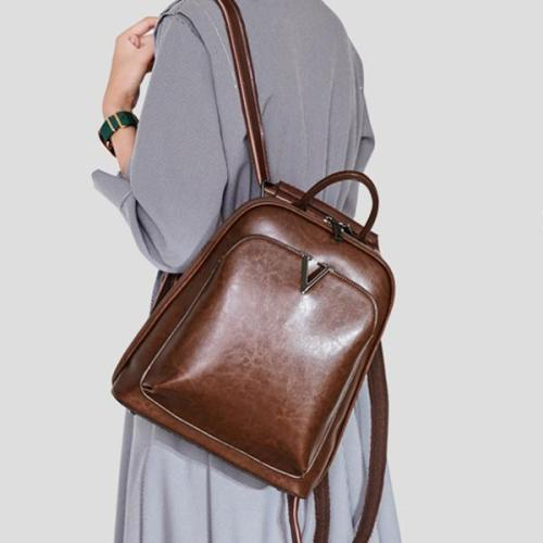 Casual  Cowhide Backpack Original Multi-functional Shoulder Bag